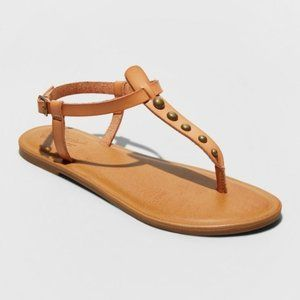 Universal Thread | NWT Bronze Bead Thong Sandals